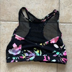 NWOT Material girl sports bra floral mesh medium